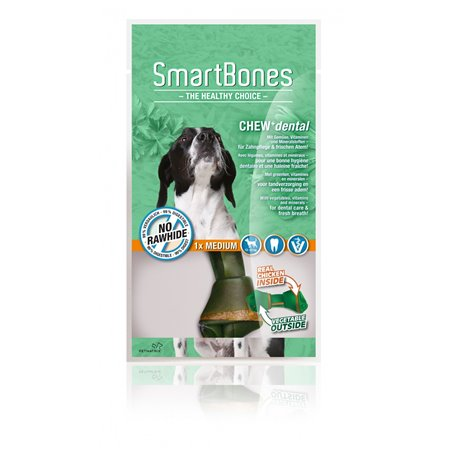 SmartBones Dental Chews Medium 1 stuk